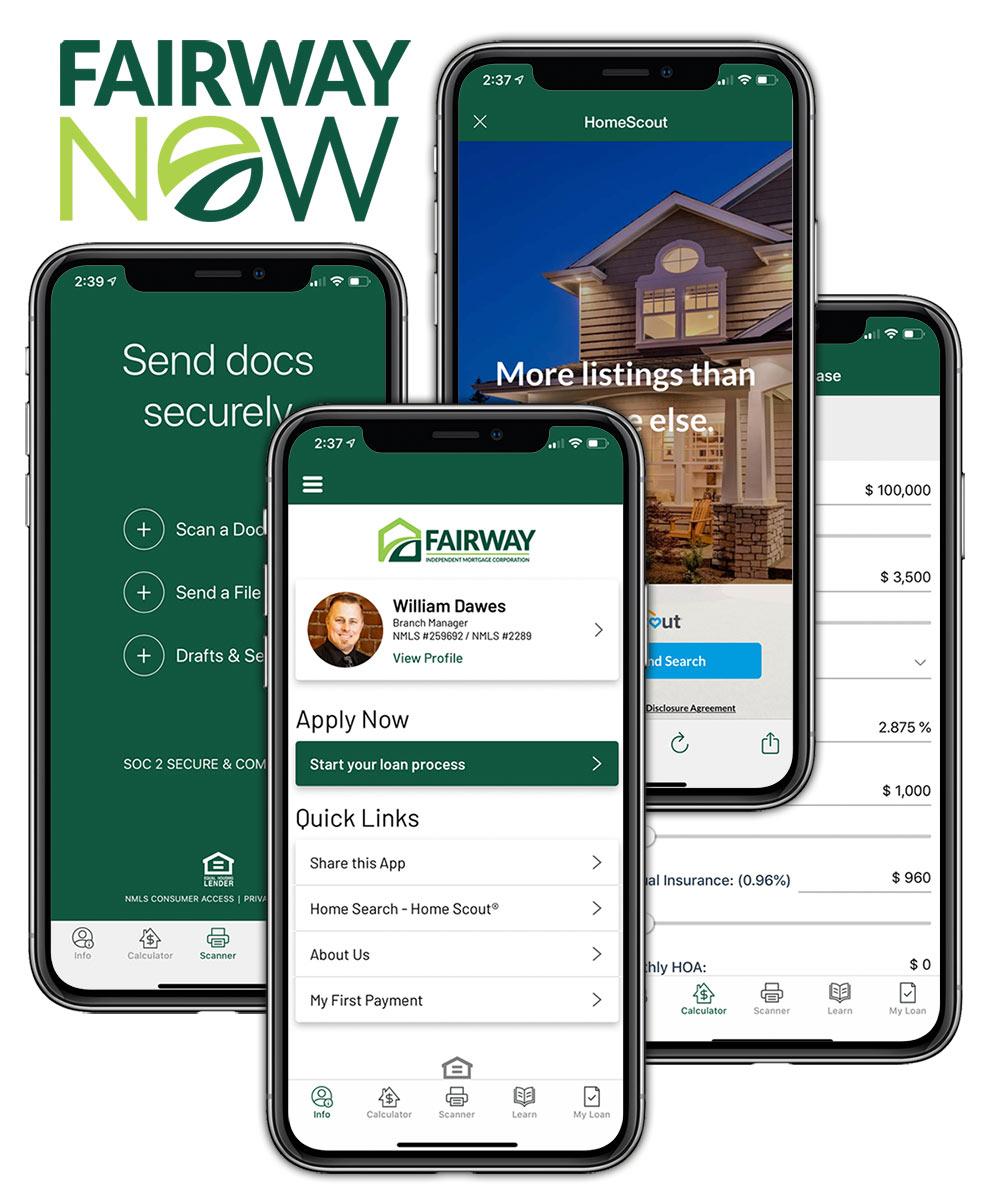 Fairway Now App Mobile Screens